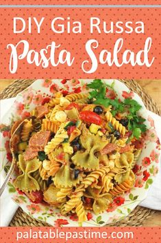 DIY Gia Russa Pasta Salad combines a favorite Italian pasta salad dressing made from scratch with the perfect pasta salad ingredients. Shrimp Salad Recipes, Healthy Salad Recipes, Grilled Fruit, Grilled Vegetables, Barbecue Recipes, Grilling Recipes, Turkey Salad, Ham Salad, Rice Salad