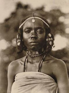 Africa | Kunama woman. Eritrea.  ca. early 1900s | Photographer unknown.