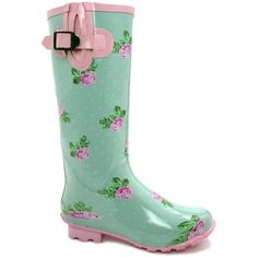 Women's Funky Rain Boots are both pretty and rugged. Now you don't have to wear ugly rain boots. Wellies Boots, Shoe Boots, Shabby Chic, Shabby Look, Rain Shoes, Fairytale Fashion, Rain Gear, Shoe Art, Minimalist Photography