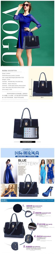 ladies handbags,large leather handbags,Matte cowhide leather vintage bag$58.54