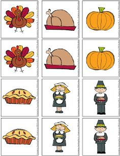 FREE Thanksgiving Memory Game! Keep your little ones entertained so you can fix a delicious meal.