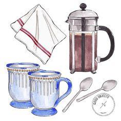 Good objects - Coffee time! ☕️ #coffee #butfirstcoffee #goodobjects #illustration