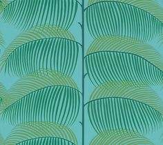 Manila by Sanderson - Turquoise / Green - Wallpaper : Wallpaper Direct