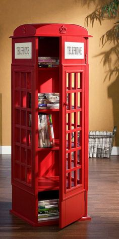 Phone Booth Cabinet // Book Shelf Maybe for Lee's man cave. Superman reference?