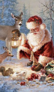 Christmas Artwork, Christmas Pictures, Christmas Scenes, Father Christmas, Santa, Frost, Gifs, Painting, Vintage