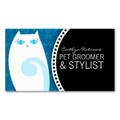Business cards on pinterest business card templates for A perfect pet salon