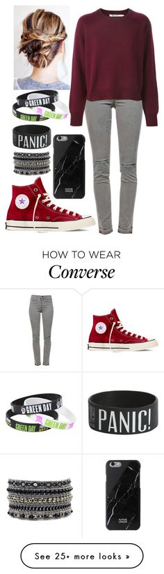 """""""Untitled #536"""" by ksmacfarland on Polyvore featuring J Brand, Converse and Native Union"""