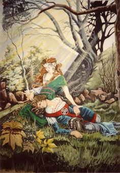 La Belle Dame Sans Merci Two by Ainsworth on DeviantArt Medieval Knight, Daughter Of God, Knights, Enchanted, Getting Married, Literature, Lovers, San, Illustrations