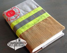 Made with reclaimed firefighter gear, this Bible cover is rough and rugged. I have converted veteran turnout gear into a durable accessory to