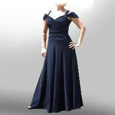 A ruched stomach area long dress from Evanese. Very bold and unique design make this dress a flattering, yet sexy and elegant addition to your closet. 4 colors. plus size $92.99