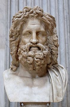 Zeus -Greek God--Marble, Roman copy after a Greek original from the 4th century.