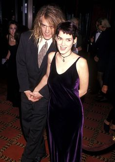 With Dave Pirner at The Age of Innocence premiere in New York City, September 1993 - Photo: Getty Images