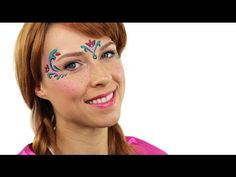 Find out how to create this lovely Frozen face paint design with our simple Anna Frozen face paint tutorial from the super-talented Ashlea Henson. Disney Face Painting, Princess Face Painting, Christmas Face Painting, Painting For Kids, Ink Painting, Anna Frozen, Frozen Disney, Face Painting Tutorials, Face Painting Designs