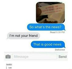 new ideas funny quotes humor laughing so hard text messages Funny Shit, Funny Texts Jokes, Text Jokes, Stupid Funny Memes, Funny Relatable Memes, Funny Posts, Funny Quotes, Hilarious, Funny Stuff