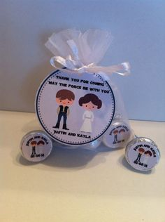 Star Wars Wedding Favor Bag Set by SweetDesignsbyRegan on Etsy, $75.00
