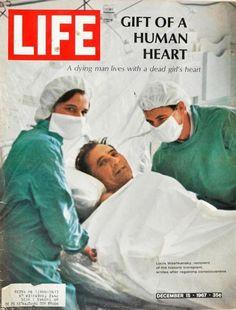 Vintage Life Magazine 1967 December 15 Gift of Human Heart Transplant Opera Life Magazine, Christiaan Barnard, First Heart Transplant, Life Cover, Organ Donation, Medical History, Vintage Magazines, World History, Fitness