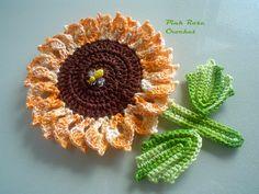 PINK ROSE CROCHET: Pega Panelas Flor Girassol
