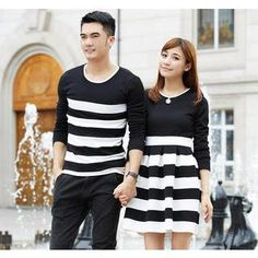 Buy 'Porspor – Striped Long-Sleeve Couple Top / Dress' with Free International Shipping at YesStyle.com. Browse and shop for thousands of Asian fashion items from China and more!