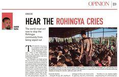 Dünya Rohingya'nın çığlıklarını duymalı