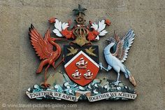 Coat of Arms of Trinidad and Tobago | ... Trinidad -Port of Spain-0022- the coat of arms of Trinidad and Tobago Why can't America have cool mottos like the Caribbean?