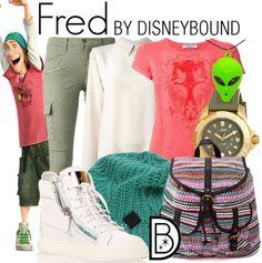 Disney Bound: Fred from Disney's Big Hero 6 Disney Themed Outfits, Disney Bound Outfits, Fandom Fashion, Geek Fashion, Lolita Fashion, Casual Cosplay, Cosplay Outfits, Disney Dress Up, Disney Clothes