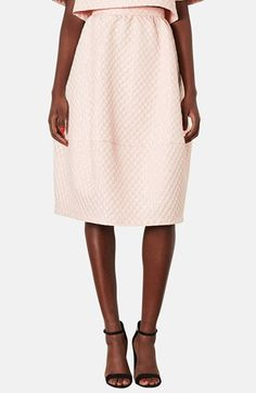 Topshop Bubble Jacquard Midi Skirt available at #Nordstrom