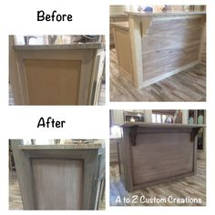 Custom Painted Kitchen Island