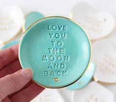 Ring Dish  Love You To The Moon And Back  Jewelry by PotteryLodge