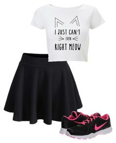 """[[]]"" by all-r ❤ liked on Polyvore featuring NIKE"