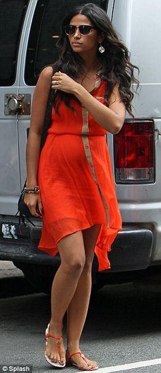 Camila McConaughey #OrangeDress