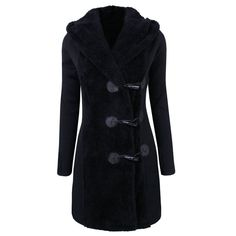 Stylish Hooded Long Sleeve Slimming Women's Toggle Closure Coat