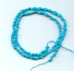 Sleeping Beauty Turquoise Loose Chip Beads Blue 18 Inch Strand