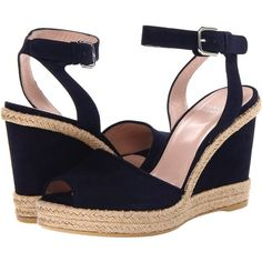 Stuart Weitzman Waycool (2.525 VEF) ❤ liked on Polyvore featuring shoes, sandals, wedges, nice blue suede, ankle strap wedge sandals, stuart weitzman sandals, blue platform sandals, wedge sandals and cork platform sandals