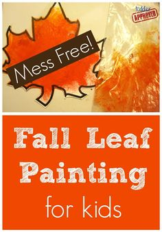 Toddler Approved!: Fall Leaf Painting in Baggies