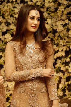 Bridal Golden Straight long Kurta
