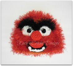 Animal , The Muppets , Fur, Photo Prop, Handmade Crochet Hat Beanie. $24.95, via Etsy.