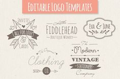 Graphic Design - Graphic Design Ideas  - Cute Premade Logo Templates - Set 4 by The Pen & Brush on Creative Market   Graphic Design Ideas :     – Picture :     – Description  Cute Premade Logo Templates – Set 4 by The Pen & Brush on Creative Market  -Read More –