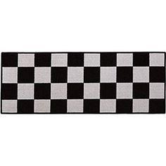 Tapete Passadeira Day By Day Xadrez Retangular 45x120cm - Aroeira