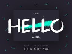Hello Dribbble! It is a huge honor say thanks with my debut shot to @Dorin007 ♒ for drafting me!  Thanks a lot!!!