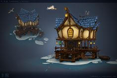 ArtStation - Ye Olde Fisherman's Outpost, Tim Moreels