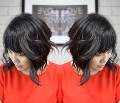 Inverted Bob Style with Bangs