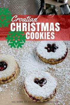 Croatian Recipes Christmas Cookies Two Ways. Here are two of my favorite… Hungarian Recipes, Russian Recipes, Russian Foods, Serbian Recipes, Banana Dessert, Dessert Bread, Christmas Baking, Christmas Cookies, Christmas 2019
