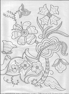 Stitchcraft Oct 1940 1 flowers elizabethan