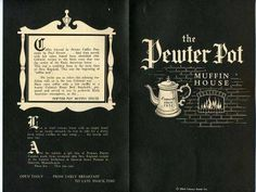 Pewter Pot Restaurant (miss their pilgrim fries): Corporate headquarters was on Middlesex Street in Burlington, MA. I worked at their Tewksbury location in high school Tewksbury Massachusetts, In Boston, Boston Town, Boston Art, Boston Common, Boston Public, Boston Strong, Revere Beach, Vintage Menu