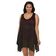 6cc6d5f895f Plus Size Beach Scene Portofino Crochet Tunic Cover-Up Plus Size Beach,  Crochet Tunic