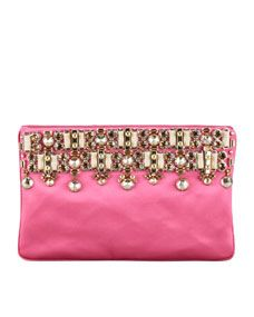 LOVE this Jeweled Satin Clutch Bag by Prada! If you have an American Express Card you can get this bag w/ FREE 2-day shipping from #NeimanMarcus & a FREE ShopRunner.com membership here: www.shoprunner.com/americanexpress
