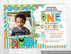 Monster Invitations Monster Birthday Invitation Monster Party