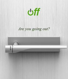 A Door Handle That Automatically Turns Off Electricity and Gas When You Leave | #TreatYoSelf | #ParksandRec