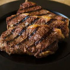 Grilled Rib-Eye Steaks w/dry rub marinade