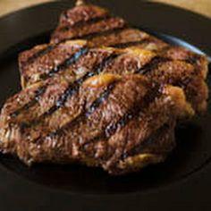 Grilled Rib-EyeSteaks w/dry rub marinade